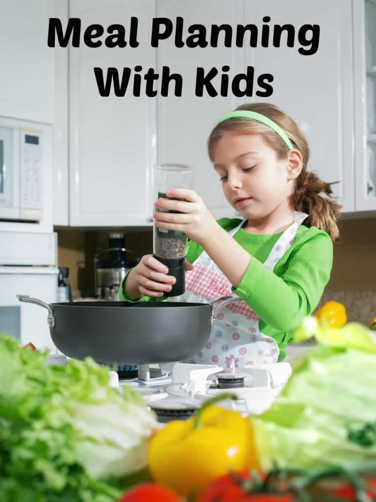 Have you ever tried meal planning with kids? It's a great family activity and can teach the kids a lot about saving money, cooking, and more!