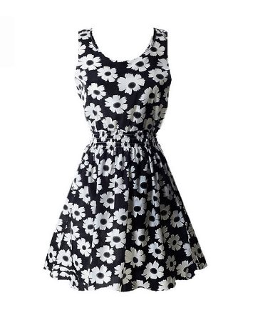Super Cute Floral Chiffon Sleeveless Sundress Just $4.85 Shipped!