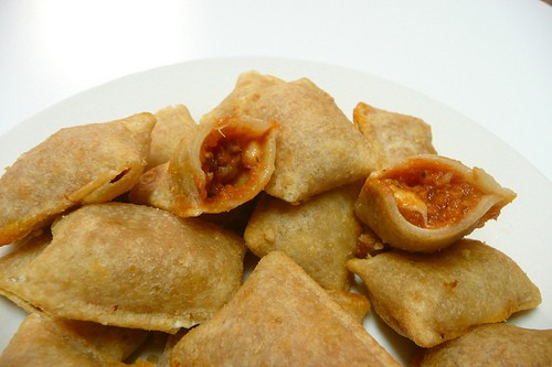 Totino's Pizza Rolls..  Great for Kids home on Vacation !
