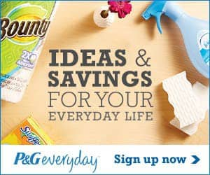 Sign Up Today with P&G Everyday, Start Saving Right Away!